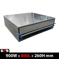 900mm Wide Aluminium Ute Canopy Slide Drawer / Bench