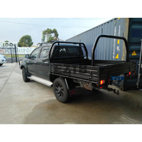 Aluminium Dual Cab Ute Tray Black Powder Coating