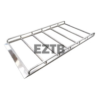 Aluminium Full Roof Rack 1.8m x 1.4m with Wind Deflector