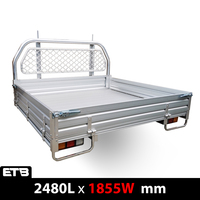 Aluminium Single Cab UTE Tray Complete Set - 2480L x 1855W mm