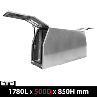 500mm Meshed-windows Flat Aluminium Gullwing Canopy Full Dog Box