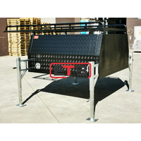 BLACK 1800mm Jack Off Checker Plate Aluminium Canopy