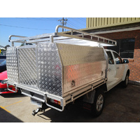 Aluminium Toolboxes with Rear Door and full roof rack package